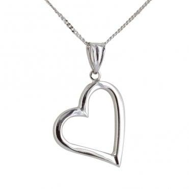 9wg Sq Sect Heart Pendant