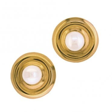 Ladies Shipton and Co Exclusive 9ct Yellow Gold and Freshwater Pearls Earrings TKG137FP