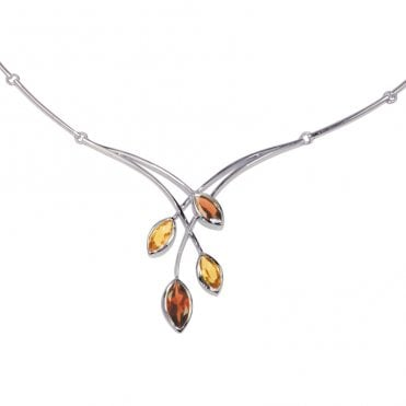 Ladies Shipton and Co Exclusive Silver and Multiple Stone Necklace NQA165MU2