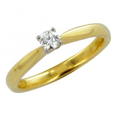 Ladies Shipton and Co Exclusive 18ct Yellow Gold and Diamond Ring S08591DI