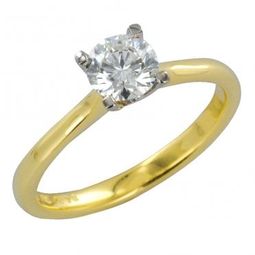 Ladies Shipton and Co Exclusive 18ct Yellow Gold 75pts 4 Claw Set Diamond H/Si2 Ring S08614DI