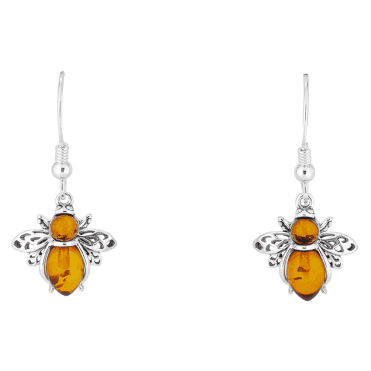 Baltic Amber Bumblebee Earrings