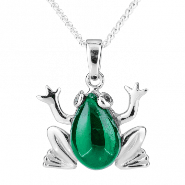 Magical Frog Pendant with 4cts of Malachite