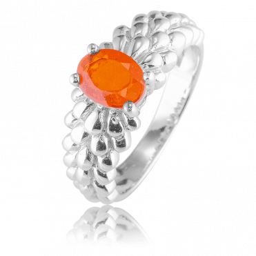 Legend of the Phoenix told in a Fire Opal Ring
