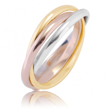 Connections Ring in 3 Colours of 9ct Gold