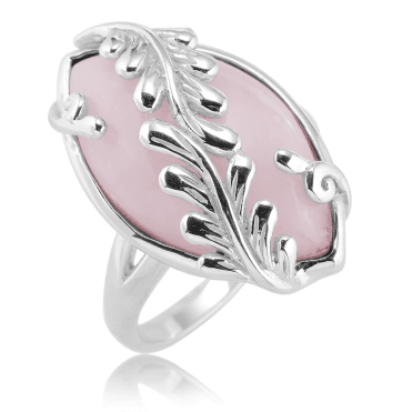 Enchanted Forest Ring with 3cts of Pink Opal