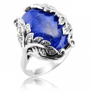 6cts of Lapis Lazuli on a Tree of Life Ring