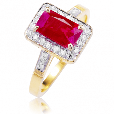 A Regal 2¼ct Extravagance of Ruby & Diamonds in 9ct Gold
