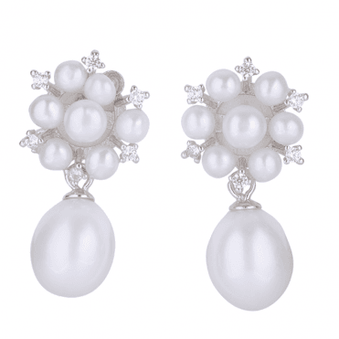 Classic Pearl Earrings with a New Touch of Sparkle