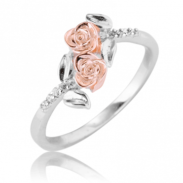 Ring of Roses Tipped with Rose Gold