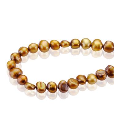 Golden Pearl Necklet & Stretch Bracelet Set