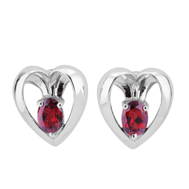 3D Design for 1.45cts of Mozambique Garnets Only £45 - Post Earrings