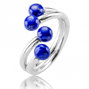 Lapis Lazuli Cabochons on an Easy-Fitting Ring