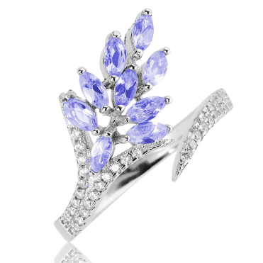 Comfort Ring with Glittering Tanzanite