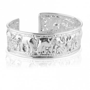 Sparkling Value Hand-embossed Elephant Bangle