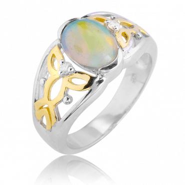1¼cts of Opal & Diamonds Elevate a Celtic Tradition