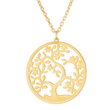 Tree of Life in 9ct Gold Cutwork