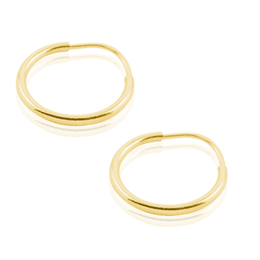 Classically Simply 9ct Gold Hoops