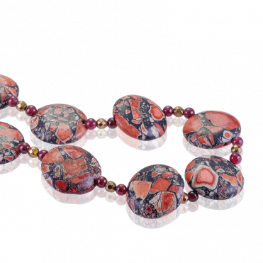600cts of Jasper with Garnet & Pyrite