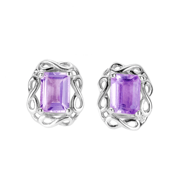 Octagonal Amethysts in Seamless Silver