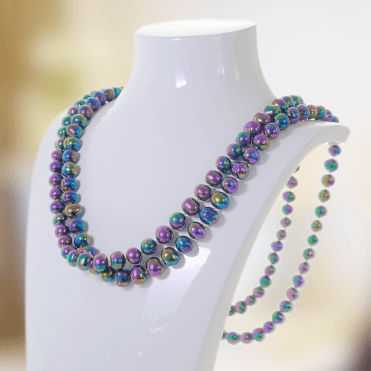 "Proud 50"" Continuum of Peacock Pearls for Only £60"