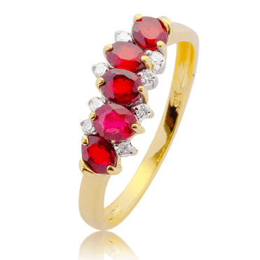 Rippling African Red Sapphires & Diamonds