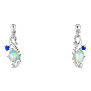 Sea-Inspired Opal & Sapphire Earrings by Jasper May