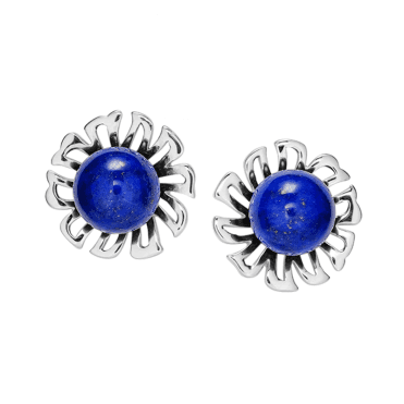Silver Earrings with 7½cts of Lapis for Only £37.50