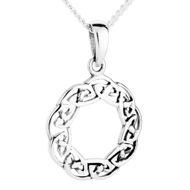 Silver Pendant with an Intricate Celtic Weave