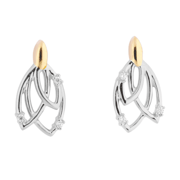 Tulip Earrings with an 18ct Gleam