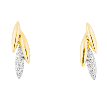 Modern Classic Earrings with 9ct Gold and Pavé Sparkle