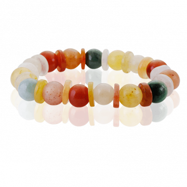 The Art of Jade on an Easy- Fitting Stretch Bracelet
