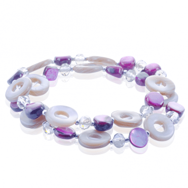 Stretch Bracelet Celebrates the Artistic Muse of Mother of Pearl