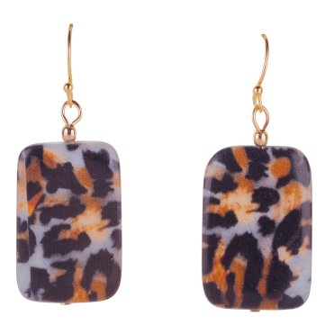 A Silver Sway of Leopard Print on Shell