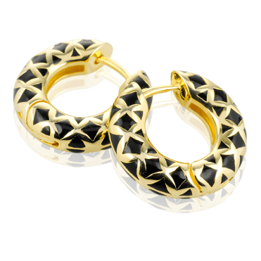 Harlequin Hoops with an 18ct Gold Gleamv