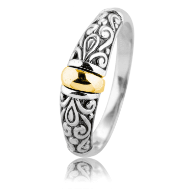 Classic Filigree Ring Kissed with Gold