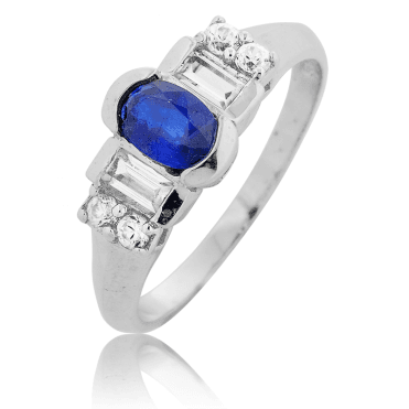 Art Deco Steps with 1ct of Sapphire & Matara
