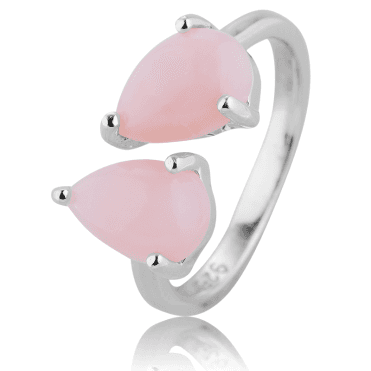 Comfort-fit Ring with 1.8cts of Pink Opals