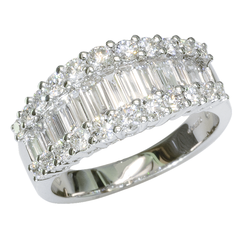 Imperial Baguette Cut Diamond Ring from Shipton and Co UK