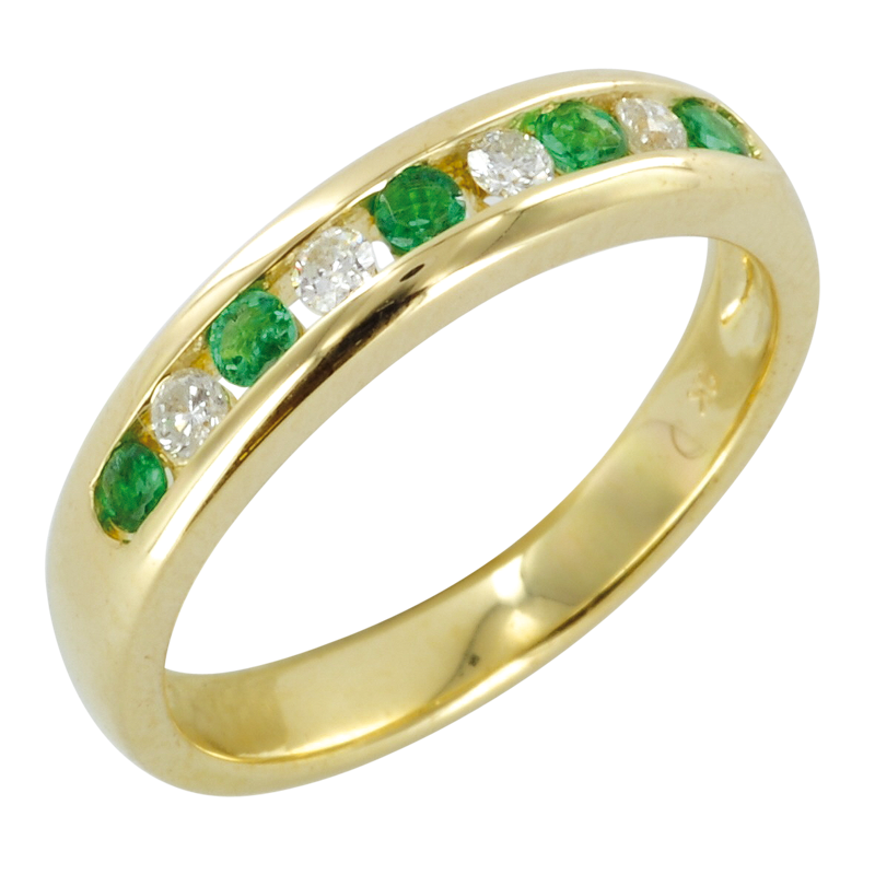 the htons half eternity ring in emerald