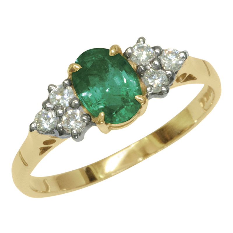 Emerald engagement ring precious stone engagement ring for Precious stone wedding rings