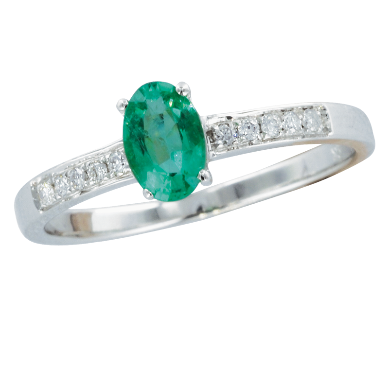 exclusive white gold emerald firenze ring from