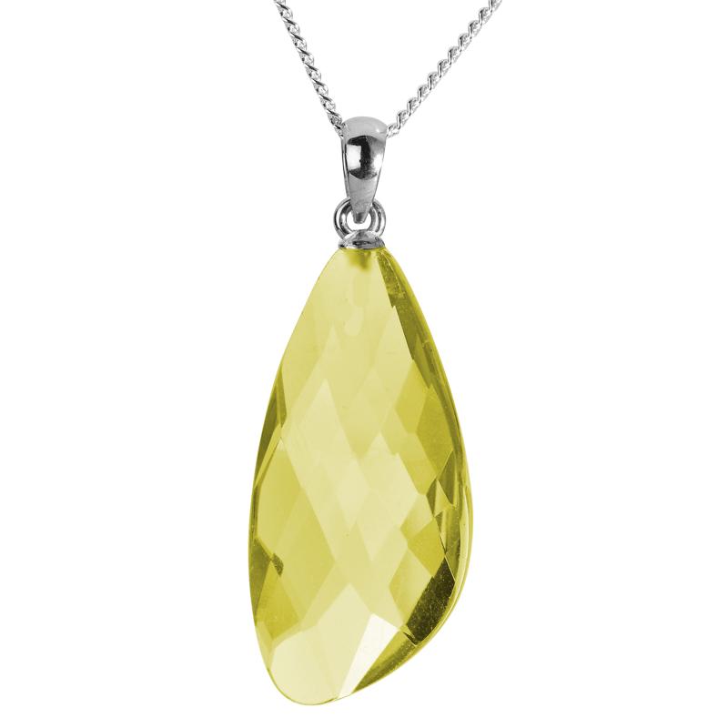 large lemon quartz pendant from shipton and co uk