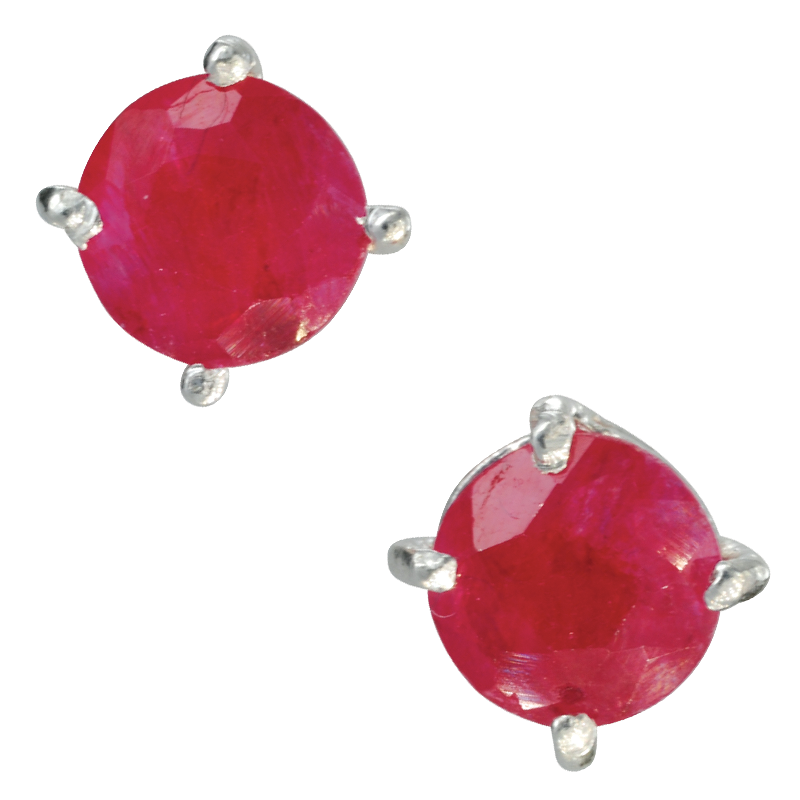 4d4496ac6 Ladies Shipton and Co Silver and 4mm Round Ruby Claw Set Stud Earrings  TMV031RU - from Shipton and Co UK