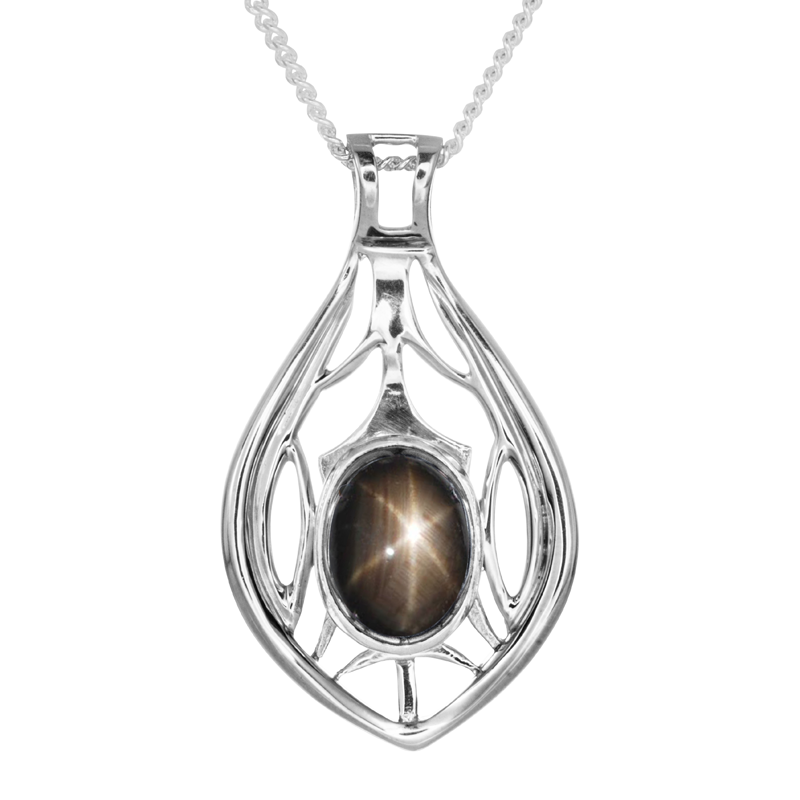 Ladies shipton and co exclusive silver oval black star sapphire ladies shipton and co exclusive silver oval black star sapphire pendant including a 16 silver chain mozeypictures Choice Image