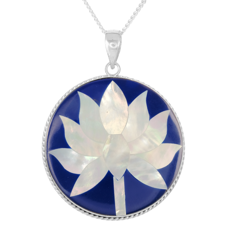 Ladies Shipton And Co Silver And Mother Of Pearl Lotus Flower