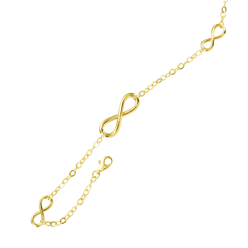 Say Its Forever With Infinity Symbols In 9ct Gold From Shipton