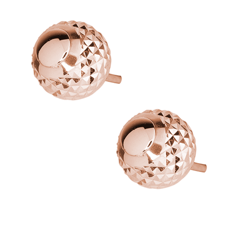 Minaret Inspired 9ct Rose Gold Studs