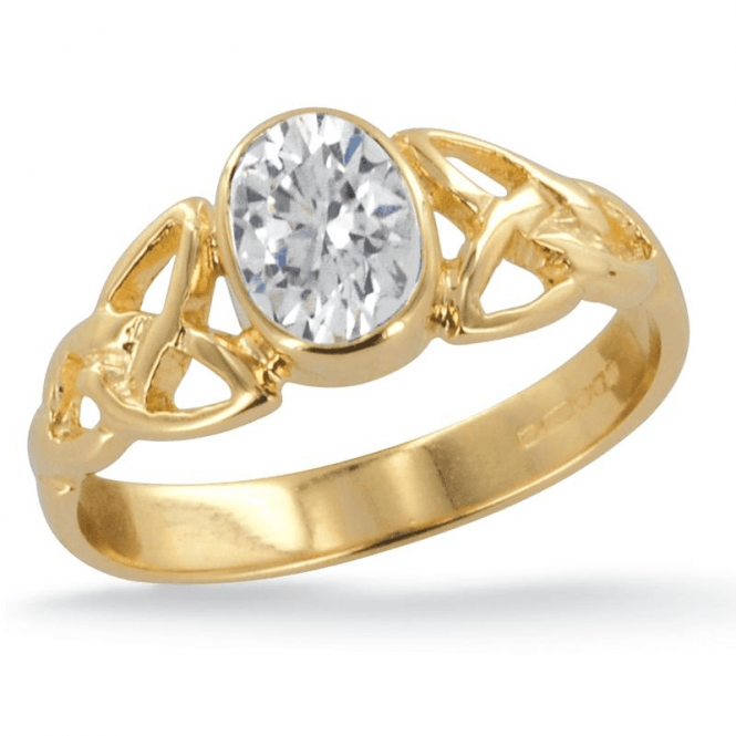 Ladies Shipton and Co Exclusive 9ct Yellow Gold and Cubic Zirconia Ring RY1769CZ
