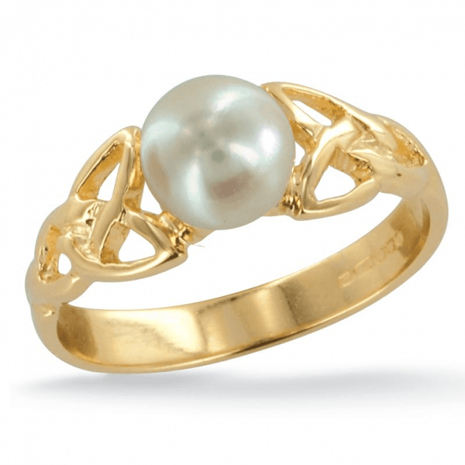 Ladies Shipton and Co Exclusive 9ct Yellow Gold and Cultured Pearls Ring RY1769CP